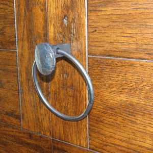 railroad spike towel ring pull