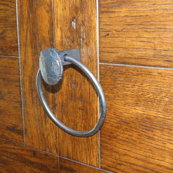 railroad spike towel ring pull