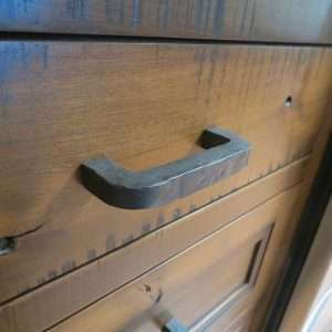 hammered drawer pull